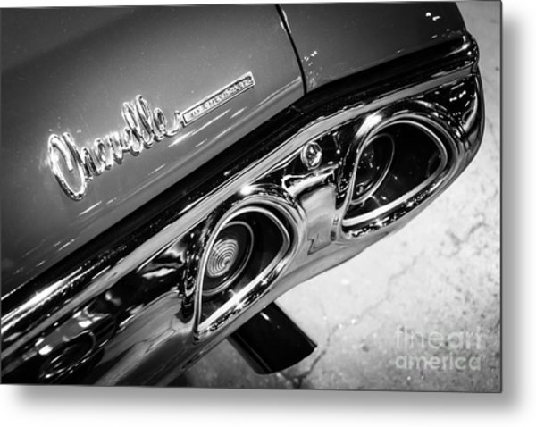 Chevrolet Chevelle Emblem Black And White Picture Metal Print