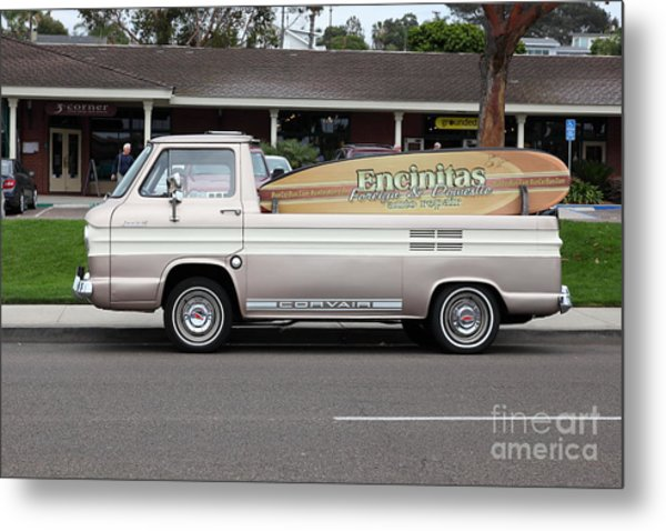 Chevrolet Corvair 95 Open Top Van 5d24225 Metal Print by Wingsdomain Art and Photography