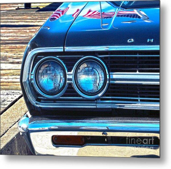 Chevrolet In American Town Metal Print