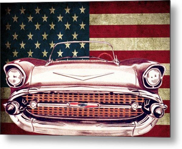 Chevy Bel Air 57 Metal Print by Diego Abelenda