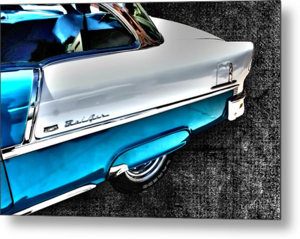 Chevy Bel Air Art 2 Tone Side View Art 1 Metal Print