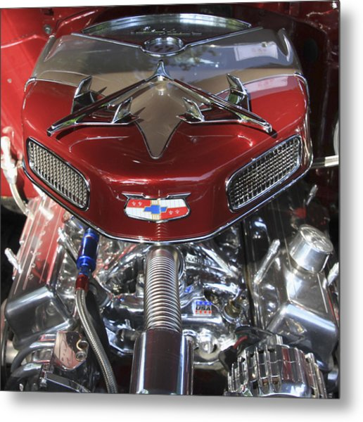 Chevy Engine Metal Print