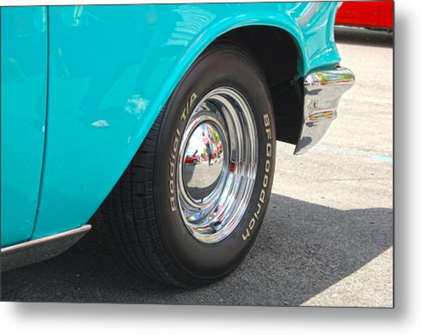 Chevy Reflection Metal Print