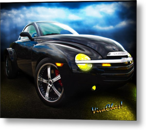 Chevy Ssr Night Life Hot Rods Live Lives All Their Own Metal Print
