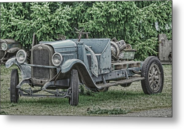 Chevy Truck By Ron Roberts Metal Print