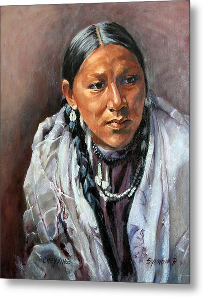 Cheyenne Woman Metal Print