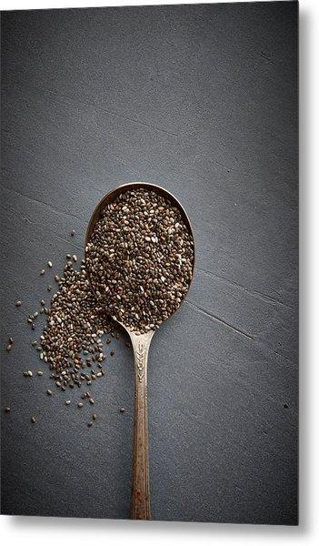Chia Seeds Metal Print by Lew Robertson