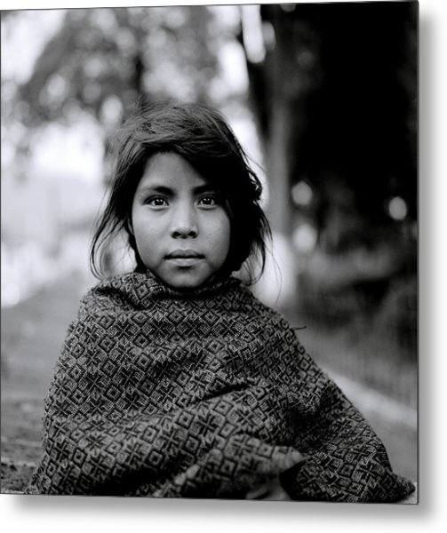 Chiapas Girl Metal Print