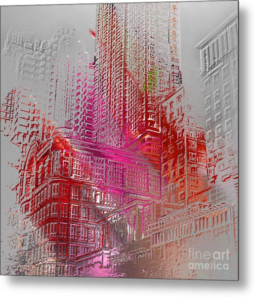 Chicago 2 Metal Print by Soumya Bouchachi