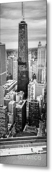 Chicago Aerial Vertical Panoramic Picture Metal Print