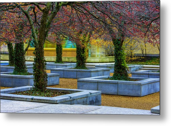 Chicago Art Institute South Garden Metal Print
