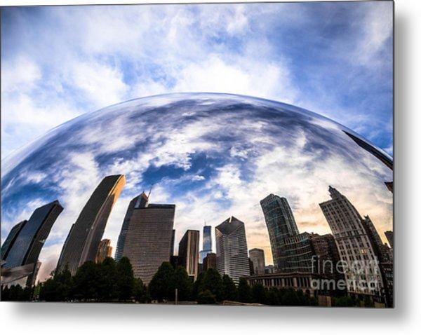 Chicago Bean Cloud Gate Skyline Metal Print