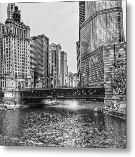 #chicago #blackandwhite #urban Metal Print