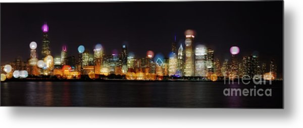 Chicago Bokeh Metal Print