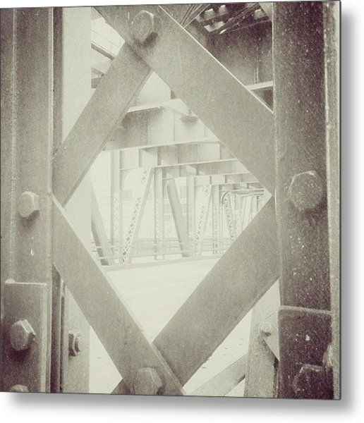 Chicago Bridge Ironwork Vintage Photo Metal Print