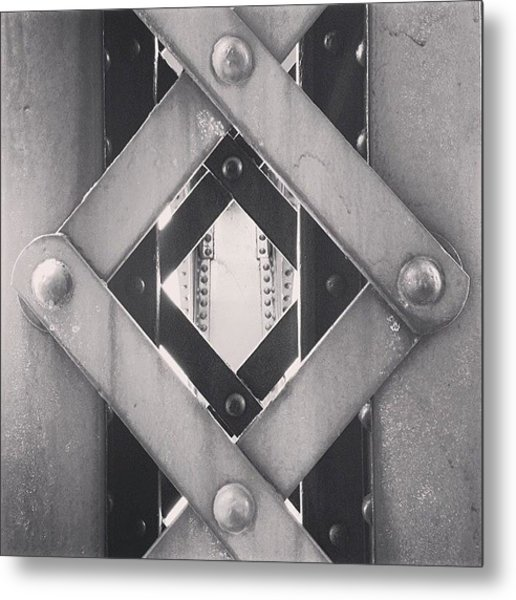Chicago Bridge Iron Close-up Picture Metal Print