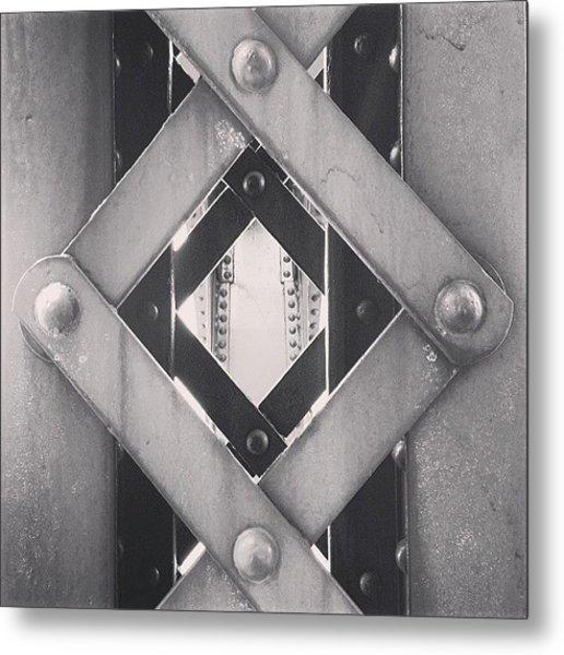 Chicago Bridge Iron Close-up Picture Metal Print
