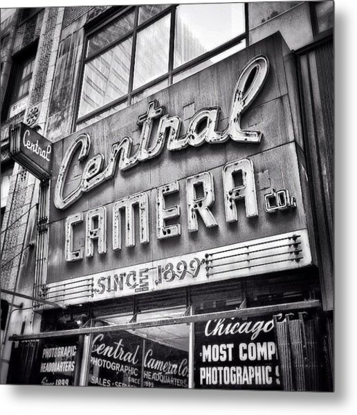 Chicago Central Camera Sign Picture Metal Print