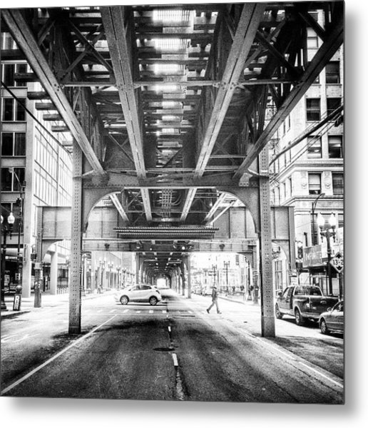 #chicago #chicagogram #blackandwhite Metal Print