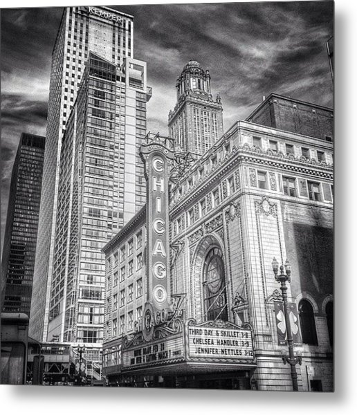 #chicago #chicagogram #chicagotheatre Metal Print