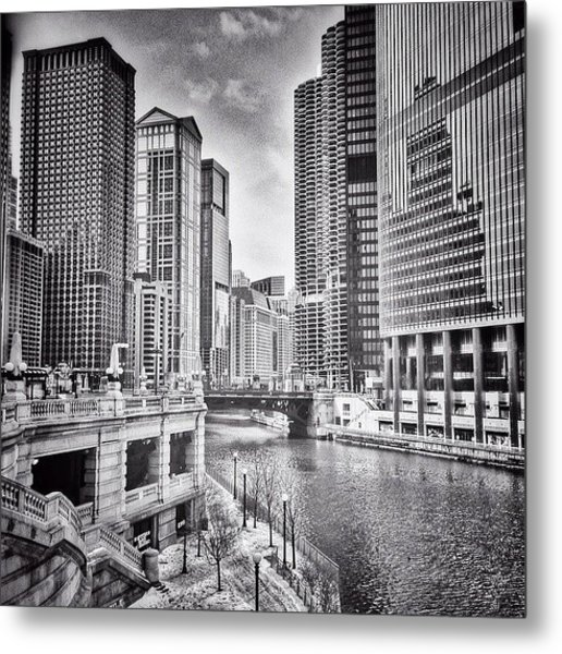 #chicago #cityscape #chicagoriver Metal Print