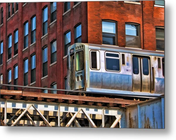 Chicago El And Warehouse Metal Print