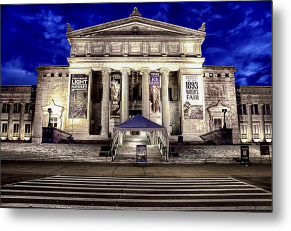 Chicago Field Museum Blue Hour Metal Print by Michael  Bennett