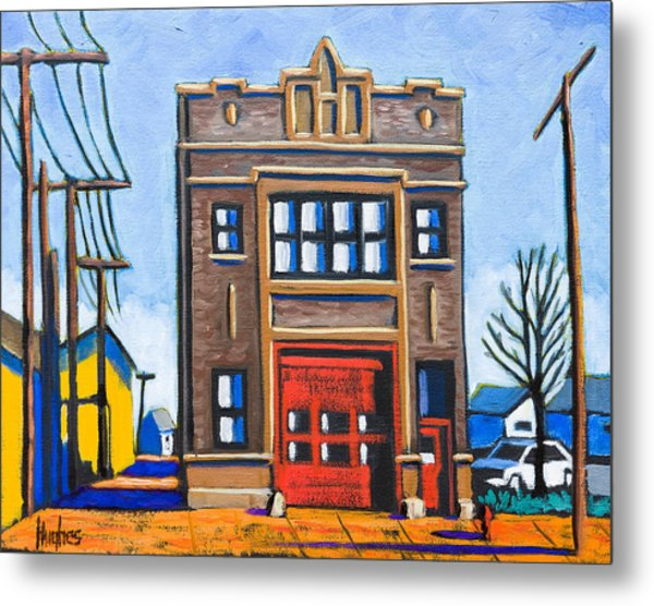 Chicago Fire Station Metal Print