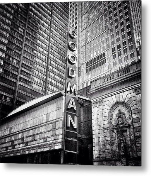 Chicago Goodman Theatre Sign Photo Metal Print