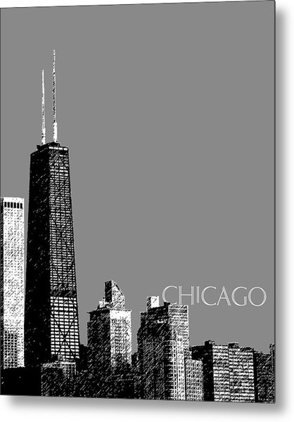 Chicago Hancock Building - Pewter Metal Print