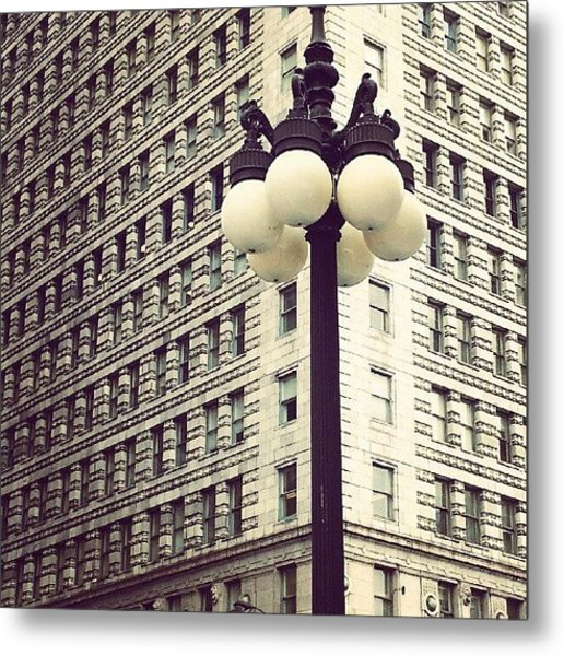 Chicago Lamp Post Metal Print