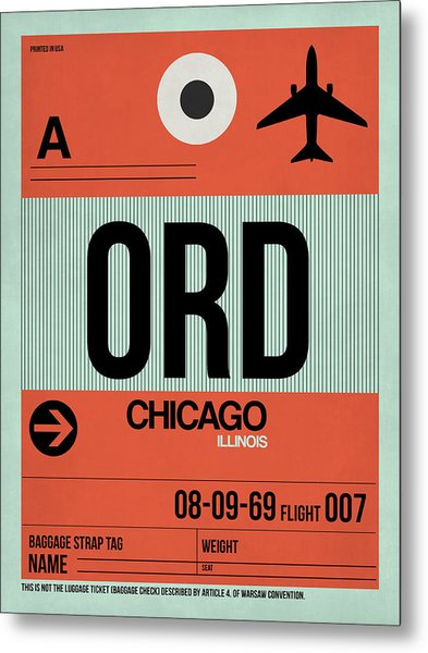Chicago Luggage Poster 2 Metal Print