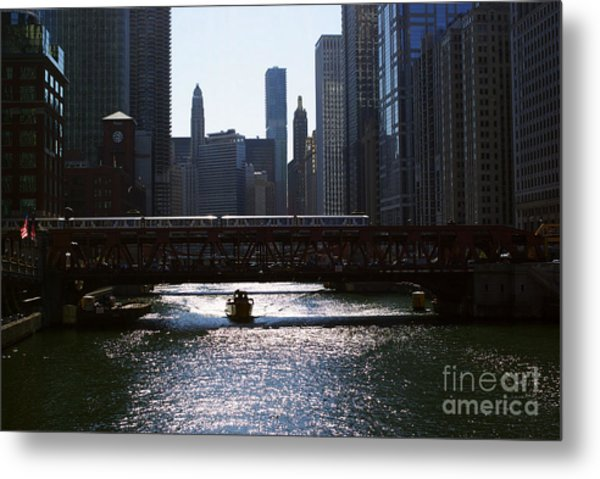 Chicago Morning Commute Metal Print