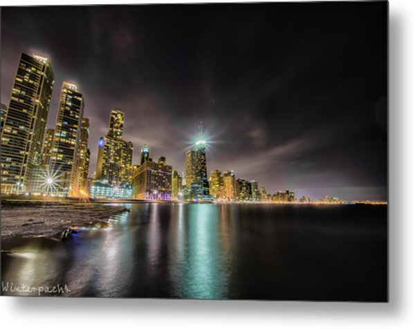 Chicago Nightscape Metal Print by Raf Winterpacht