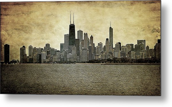 Chicago On Canvas Metal Print