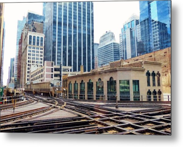 Chicago Rails Metal Print