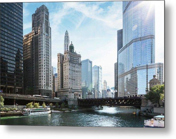 Chicago River Metal Print by Bjarte Rettedal