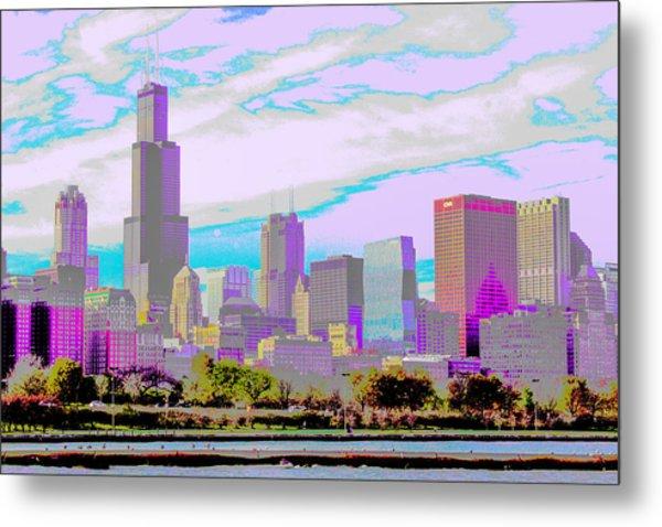 Chicago Skyline 2014 Metal Print