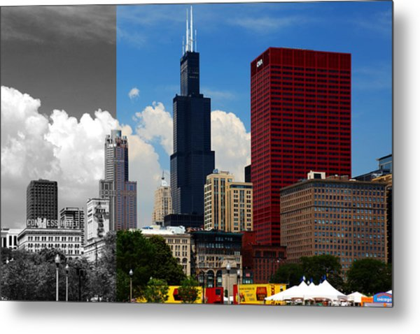 Chicago Skyline Sears Tower Metal Print