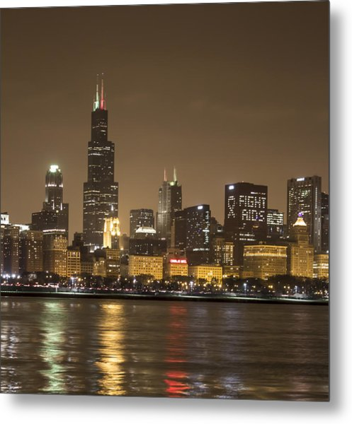 Chicago Skyline - World Aids Day 12/1/12 Metal Print