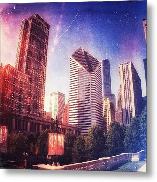 Chicago Skyscrapers 🏢 Metal Print