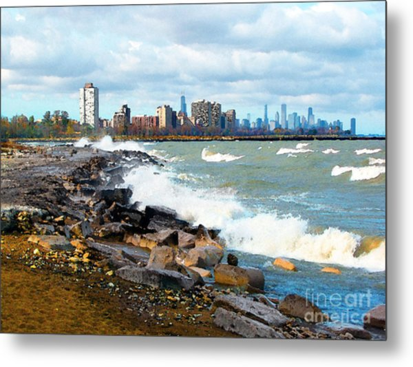 Chicago South Lakefront Metal Print