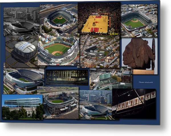 Chicago Sports Collage Metal Print