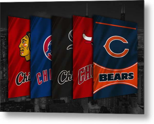 Chicago Sports Teams Metal Print