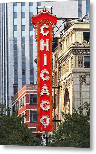 Chicago Theatre - A Classic Chicago Landmark Metal Print