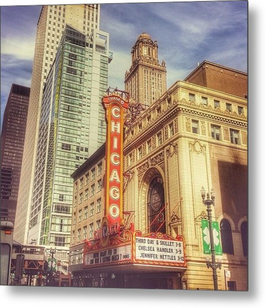 Chicago Theatre #chicago Metal Print