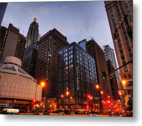 Chicago - Wabash And Wacker 001 Metal Print by Lance Vaughn