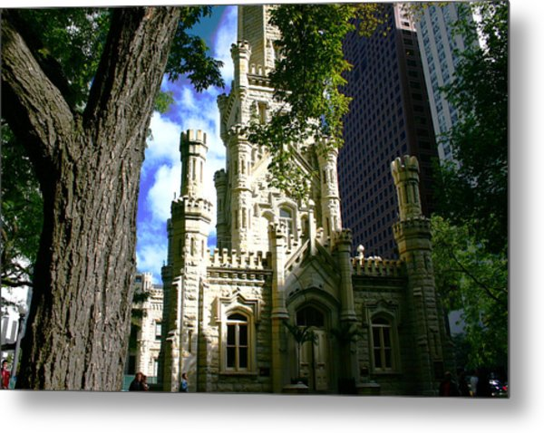Chicago Water Tower Castle Metal Print