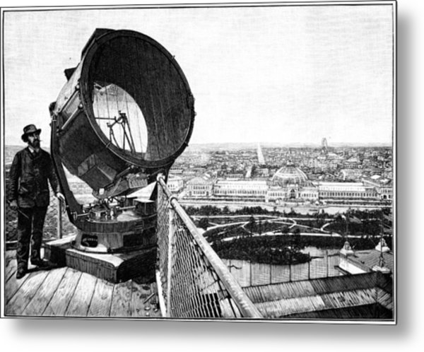 Chicago World Fair Searchlight, 1893 Metal Print by Science Photo Library