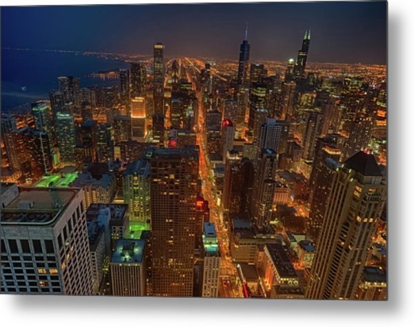 Chicagos Magnificent Mile Metal Print by By Ken Ilio